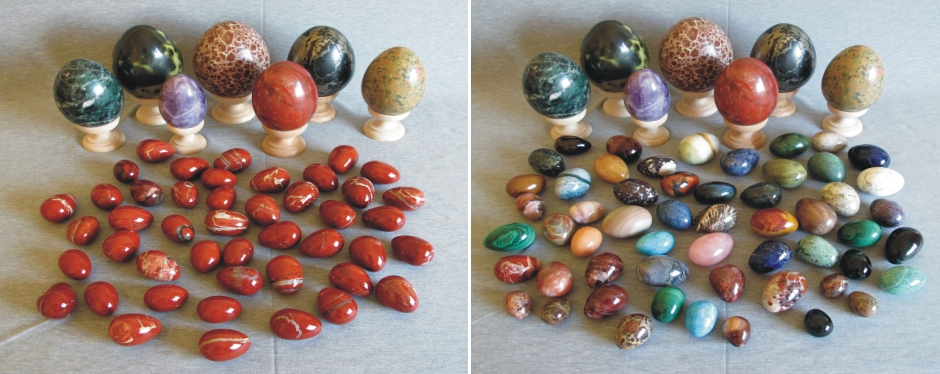Collection of Hardstone Eggs